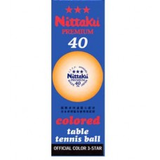 Nittaku 3 Star Premium Orange 3 pk