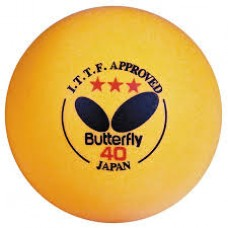 Butterfly 3 Star 40 mm Orange Ball - 3 pack
